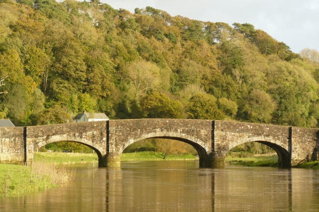 the Toll Bridge at Weir Gifford