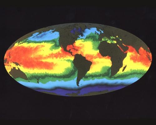 global warming map of sea temperatures