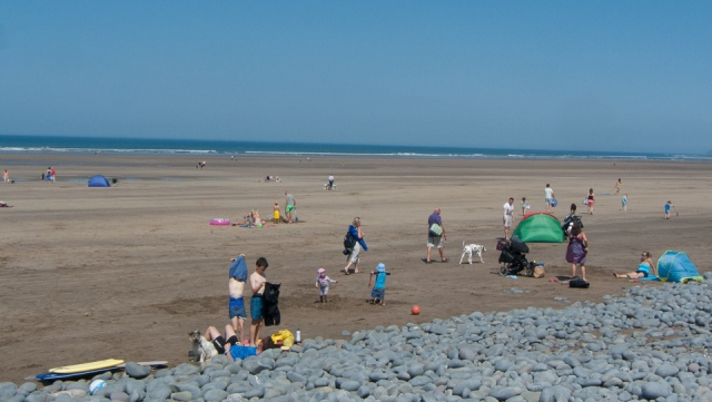 Northam Burrows beach - Holiday time!