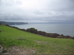 At the end of the Green Lane, I came out on to high ground overlooking the whole sweep of Bideford Bay.
